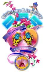 Queensland Orchid International March Birthstone & Jewellery Aqua Marine