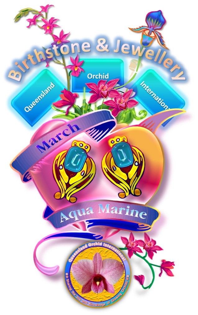 Queensland Orchid International March Birthstone & Jewellery Aqua Marine