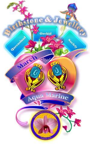 Queensland Orchid Society March Birthstone & Jewellery Aqua Marine