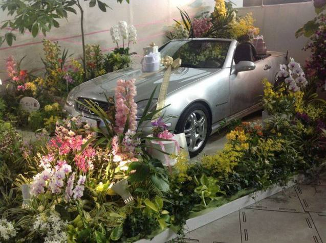 International Orchid Show in Tokyo Dome with Car as Prize