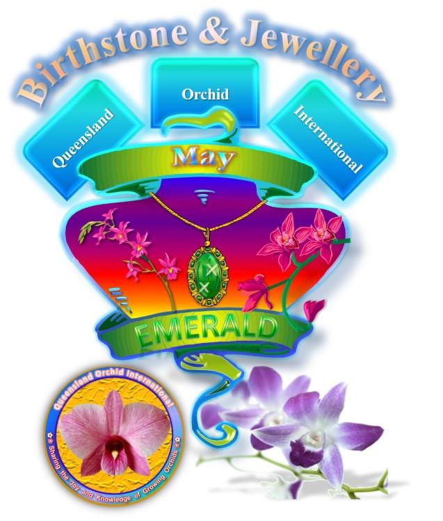 Queensland Orchid International May Birthstone & Jewellery Emerald