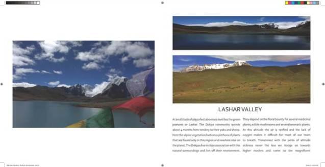 Framed Himalaya sample spread, a work in progress