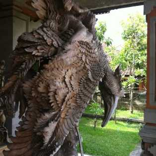 Wood Carving of Garuda (1)