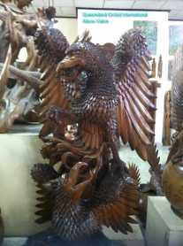 Wood Carving of Garuda (3)