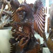 Wood Carving of Garuda (3)